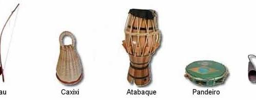 CAPOEIRA, instrumentos musicales.